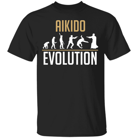 Aikido Evolution T-shirt | Gift For Aikido Martial Artists