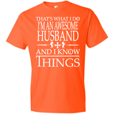 Husband Gift | Cute Husband Shirt | Gift For Husband | Husband T shirt | Awesome Husband | Best Husband Gift | Gift For Him | Anvil 980