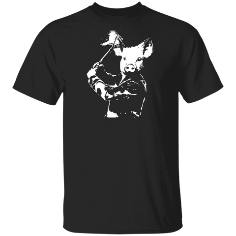 Pig With An Axe T-shirt | Pork Revenge Tee