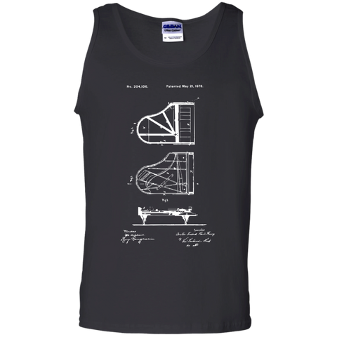 Piano Patent Tank Top | Gift for Piano Players