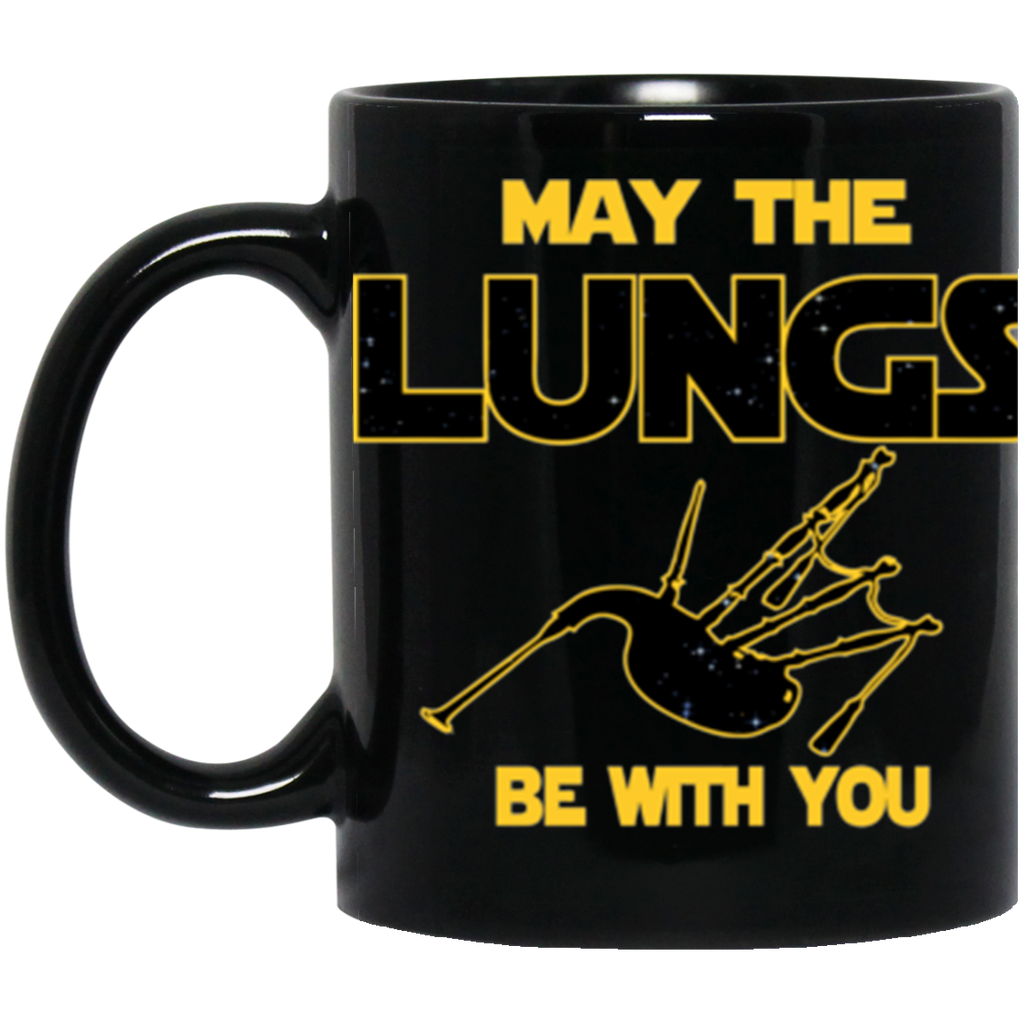 Bagpipes Player Black Coffe Mug - May The Lungs Be With You