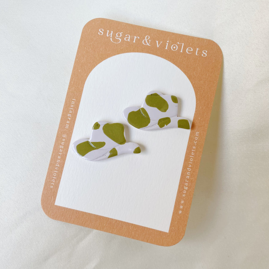 the all seeing moon earring - black & brass