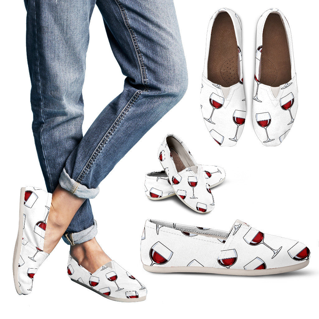 A Glass of Wine Casual Shoes
