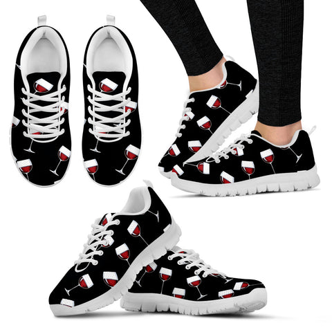 A Glass of Wine Sneakers (Black)