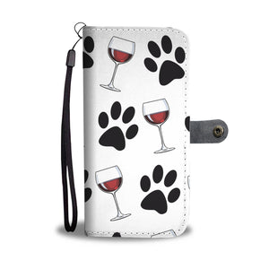 Paws & Wine Wallet Phone Case