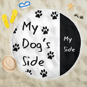 'My Dog's Side' Beach Blanket