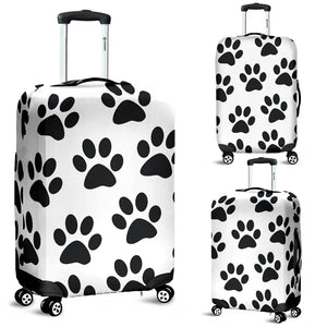 Paw Print Luggage Cover
