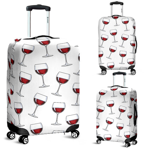 A Glass of Wine Luggage Cover