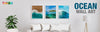Ocean Wall Art - Large Custom Ocean Canvas Multi Panel Wall Art Prints