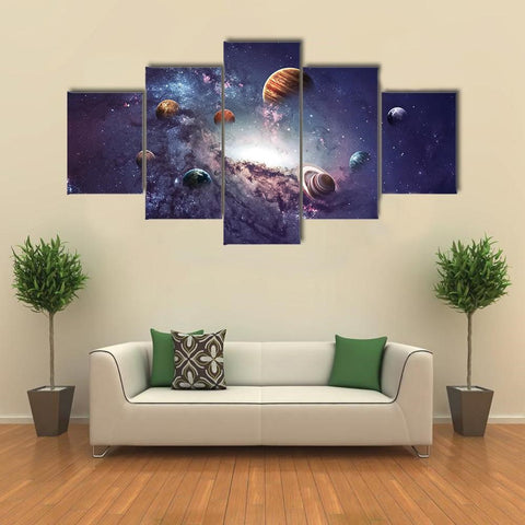 PLANETS OF THE SOLAR SYSTEM CANVAS WALL ART