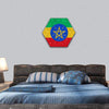 Ethiopia Flag Grunge Illustration Hexagonal Canvas Wall Art 1 Hexa / Small / Gallery Wrap Tiaracle