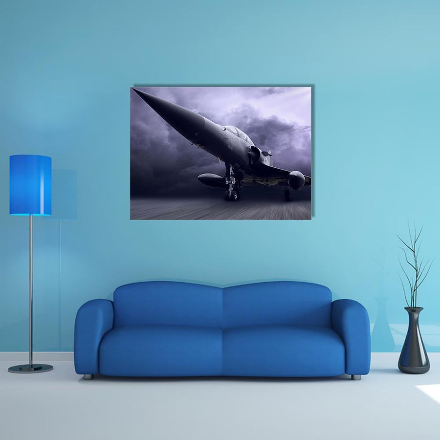 Military Airplane Multi Panel Canvas Wall Art 5 Horizontal / Small / Gallery Wrap Tiaracle