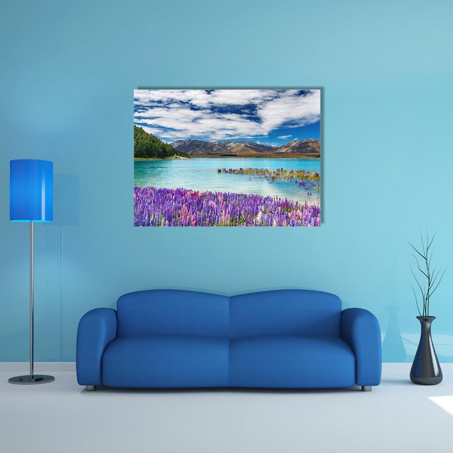 Lake Tekapo, New Zealand Multi Panel Canvas Wall Art 5 Horizontal / Small / Gallery Wrap Tiaracle