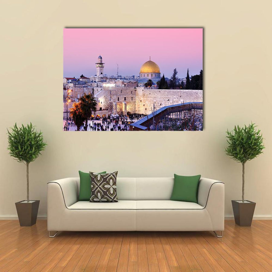 Al Aqsa Mosque Multi Panel Canvas Wall Art 4 Horizontal / Small / Gallery Wrap Tiaracle