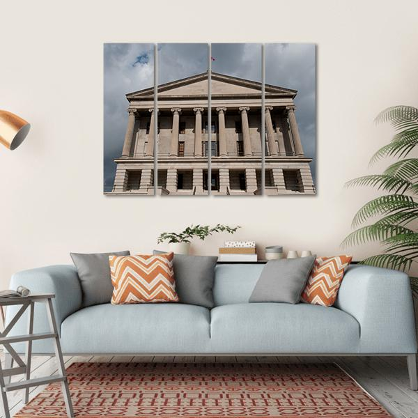 State Capitol In Nashville Multi Panel Canvas Wall Art 1 Piece / Small / Gallery Wrap Tiaracle