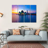 Masjid Selat Melaka Multi Panel Canvas Wall Art 4 Horizontal / Small / Gallery Wrap Tiaracle