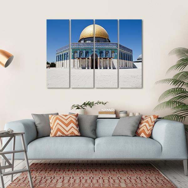 The Dome Of The Rock Multi Panel Canvas Wall Art 1 Piece / Small / Gallery Wrap Tiaracle