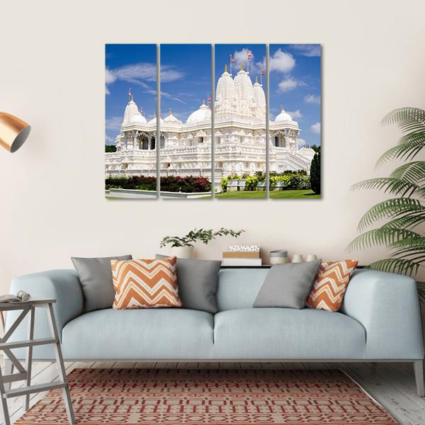 Hindu Temple Of Atlanta Multi Panel Canvas Wall Art 1 Piece / Small / Gallery Wrap Tiaracle