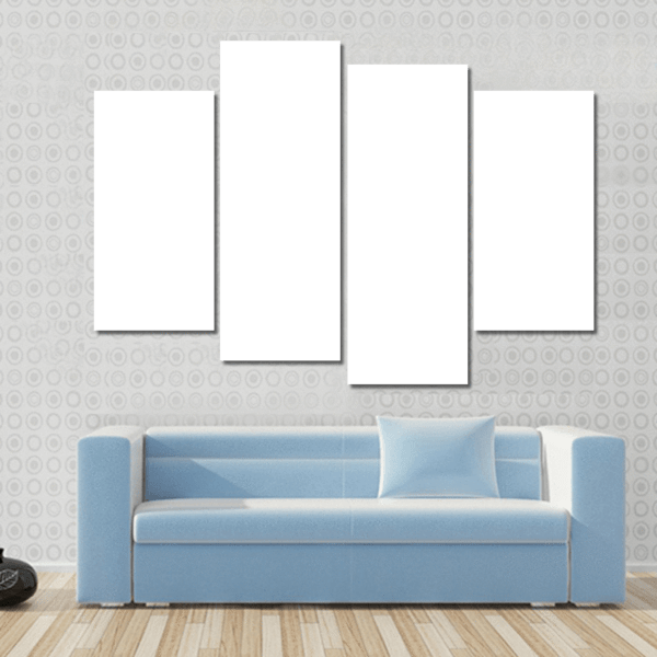 4 Panels Print - Custom Horizontal Canvas Set Tiaracle