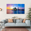 Masjid Selat Melaka Multi Panel Canvas Wall Art 5 Horizontal / Small / Gallery Wrap Tiaracle