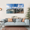 USS Midway Aircraft Carrier Multi Panel Canvas Wall Art 5 Horizontal / Small / Gallery Wrap Tiaracle