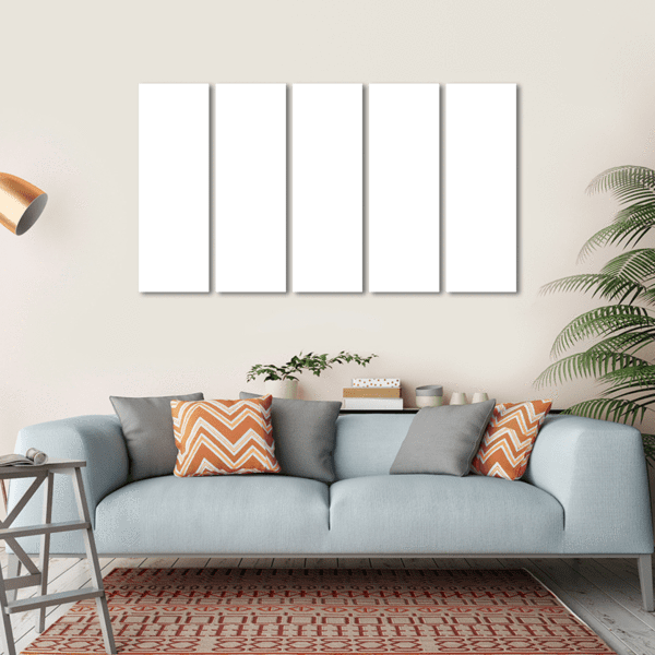 5 Panels Print - Custom Horizontal Canvas Set 74x24 / Canvas Tiaracle