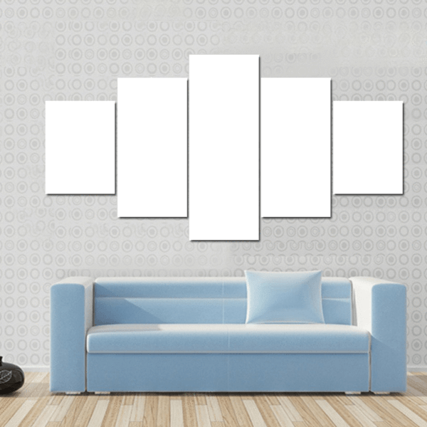 5 Panels Print - Custom Star Horizontal Canvas Wall Art