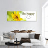 Yellow Flower Panoramic Canvas Wall Art