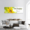 Abstract Of Yellow Flower Panoramic Canvas Wall Art 3 Piece / Small Tiaracle