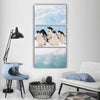 Adelie Penguins Colony On Iceberg Antarctica Vertical Canvas Wall Art Tiaracle