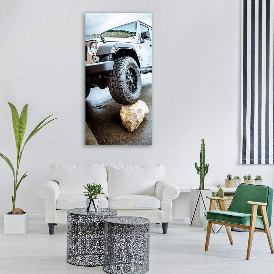 Adventure Jeep Vertical Canvas Wall Art 3 Vertical / Small / Gallery Wrap Tiaracle
