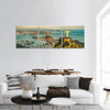 Aerial View Of Christ And Botafogo Bay Panoramic Canvas Wall Art 3 Piece / Small Tiaracle