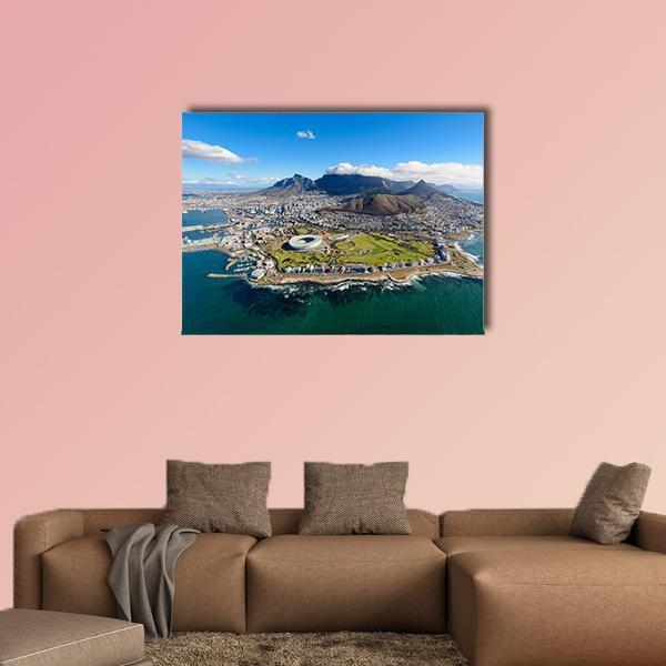 Air Tour Of Cape Town Multi Panel Canvas Wall Art 4 Pieces / Medium / Canvas Tiaracle100587571_xl