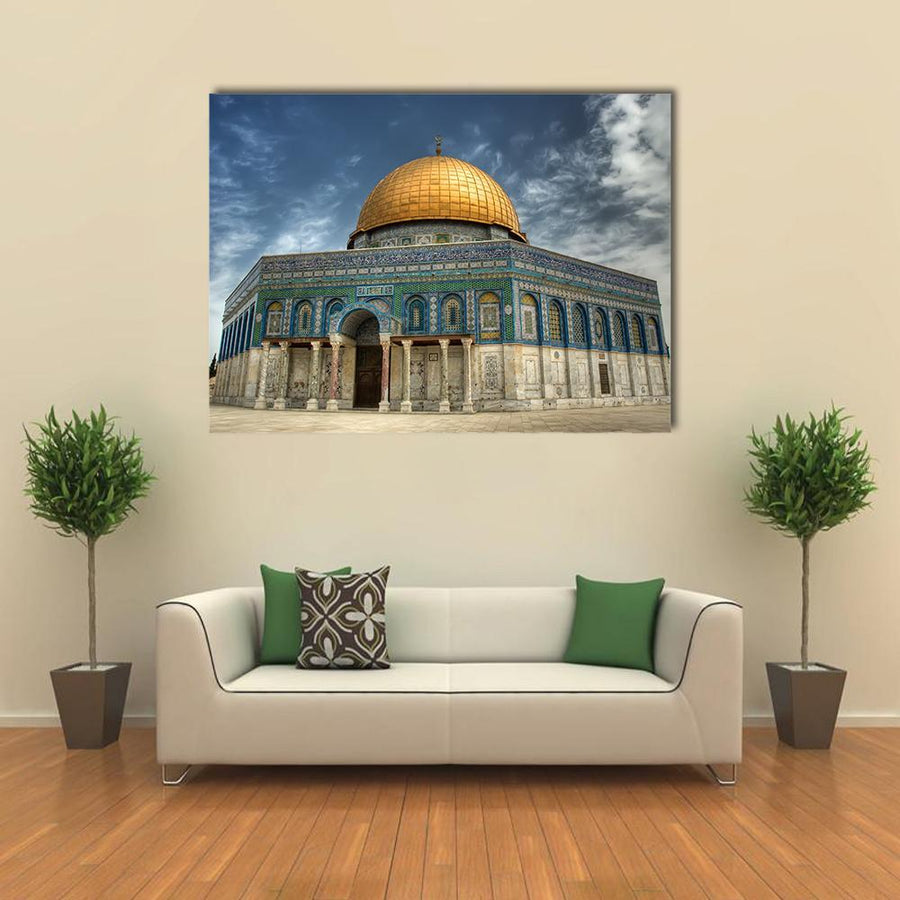 AL Aqsa Mosque In Jerusalem Multi Panel Canvas Wall Art 4 Horizontal / Small / Gallery Wrap Tiaracle