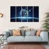 Alien Spaceship In Deep Space Canvas Wall Art-5 Horizontal-Small-Gallery Wrap-Tiaracle