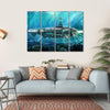 Alien Submarine In Sea Canvas Wall Art-4 Horizontal-Small-Gallery Wrap-Tiaracle