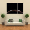 American Football Multi Panel Canvas Wall Art 3 Horizontal / Small / Gallery Wrap Tiaracle