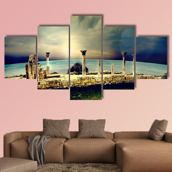 Ancient Greek City Of Ruins In Greece Multi Panel Canvas Wall Art 5 Pieces(A) / Medium / Canvas Tiaracle100587571_xl