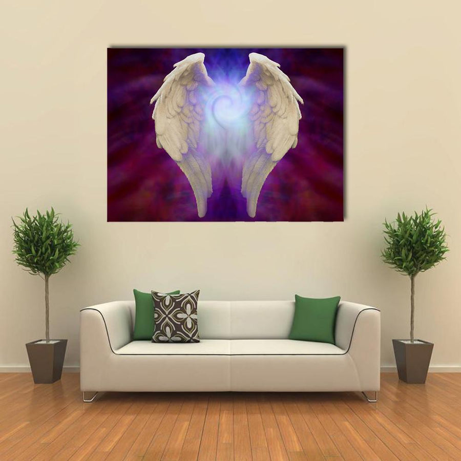 Angel Wings Multi Panel Canvas Wall Art-4 Square-Small-Gallery Wrap-Tiaracle