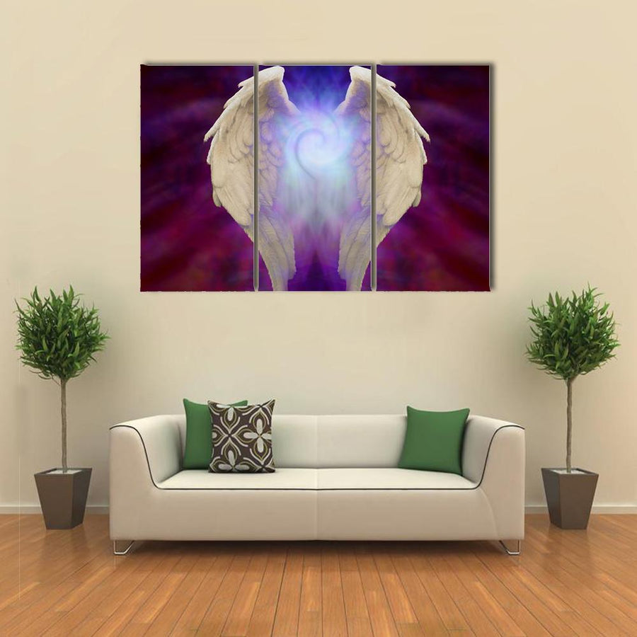 Angel Wings Multi Panel Canvas Wall Art-1 Piece-Xsmall-Gallery Wrap-Tiaracle