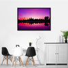 Angkor Wat Temple At Sunset Multi Panel Canvas Wall Art-Tiaracle