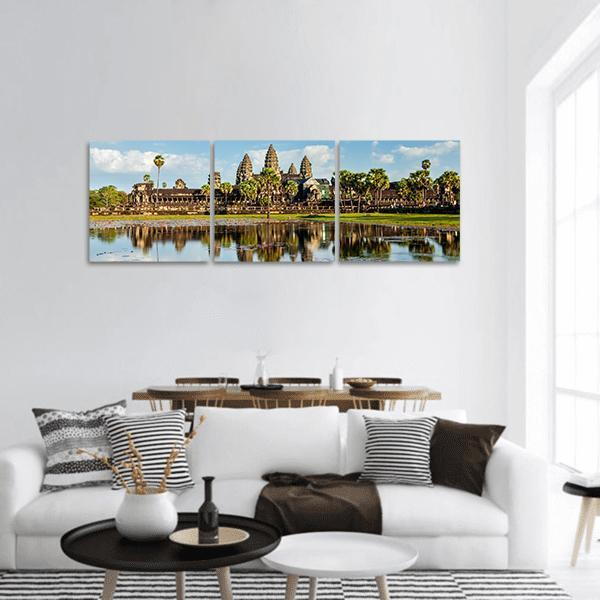 Angkor Wat Temple In Cambodia Panoramic Canvas Wall Art 1 Piece / Small Tiaracle