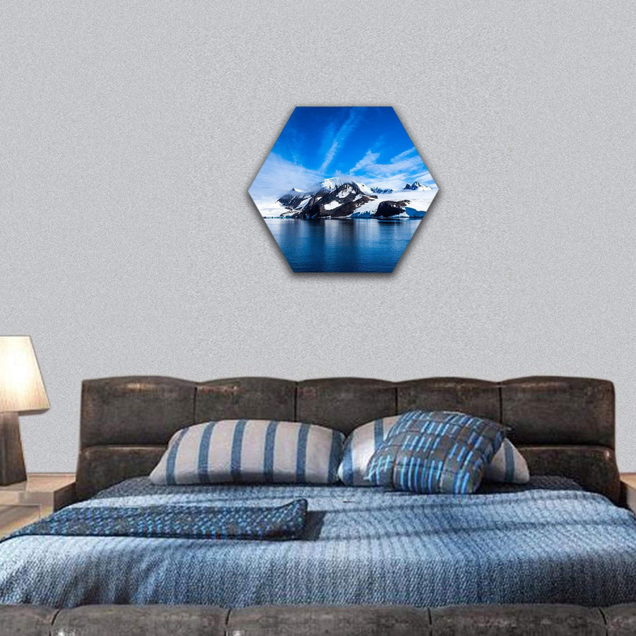 Antarctica Outstanding Natural Beauty Hexagonal Canvas Wall Art 7 Hexa / Small / Gallery Wrap Tiaracle