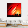 Anti Aircraft Missiles Canvas Wall Art-4 Square-Small-Gallery Wrap-Tiaracle