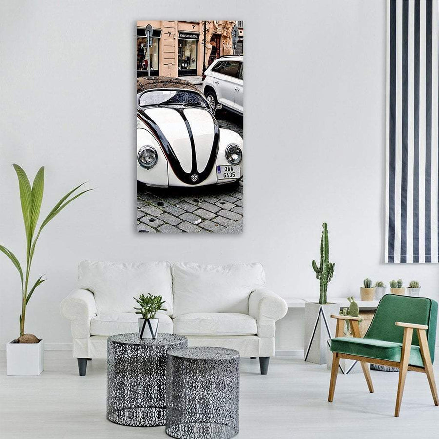 Antique Classic Car Vertical Canvas Wall Art 3 Vertical / Small / Gallery Wrap Tiaracle
