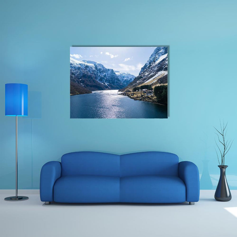 Ardalfjord Famous Fjord In Norway Multi Panel Canvas Wall Art 5 Pieces(A) / Medium / Canvas Tiaracle
