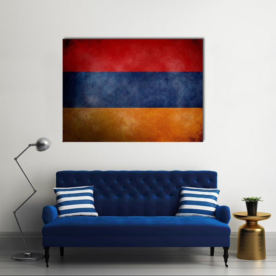 Armenian Flag On Old Grunge Texture Multi Panel Canvas Wall Art 5 Pieces(A) / Medium / Canvas Tiaracle