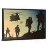Army In Battle Field Multi Panel Canvas Wall Art-Tiaracle