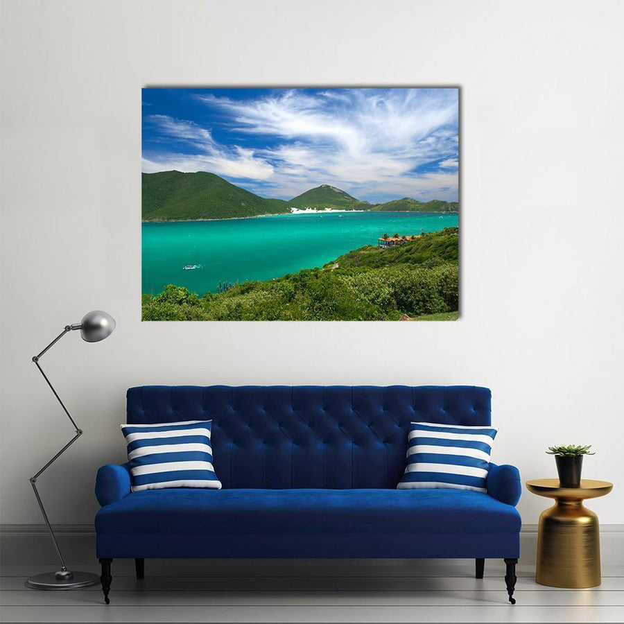 Arraial Do Cabo Multi Panel Canvas Wall Art 4 Horizontal / Small / Gallery Wrap Tiaracle