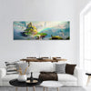 Art Of Fantasy Island Panoramic Canvas Wall Art 1 Piece / Small Tiaracle
